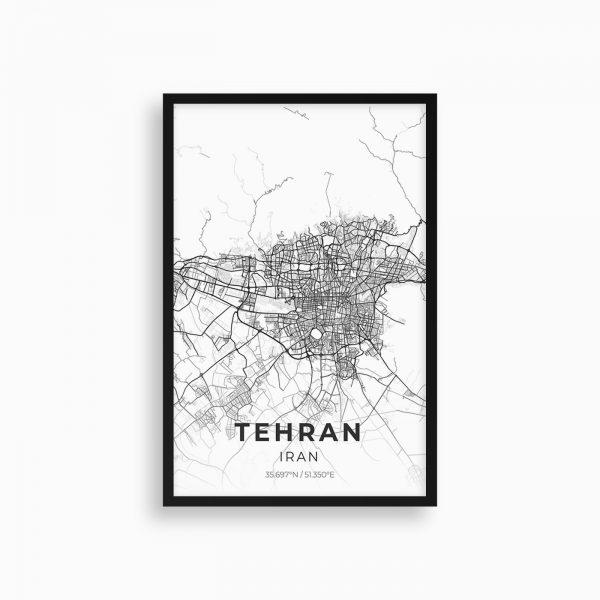 تابلو نقشه تهران